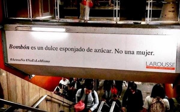 Larousse lanza campaña para combatir el acoso (e ignorancia) en el Metro de la CDMX