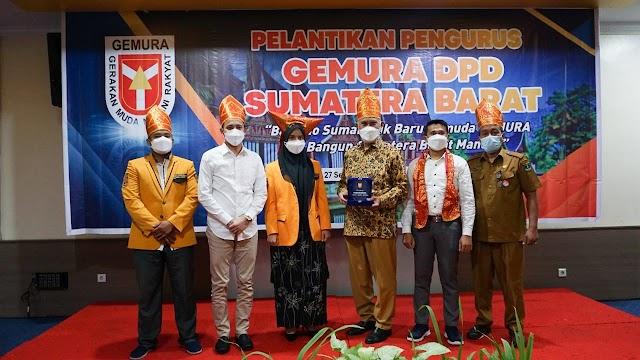 """Gubernur Hadiri Pelantikan Pengurus """"GEMURA"""", DPD Sumatera Barat"""