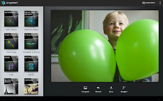 Snapseed photo editing in Chrome browser
