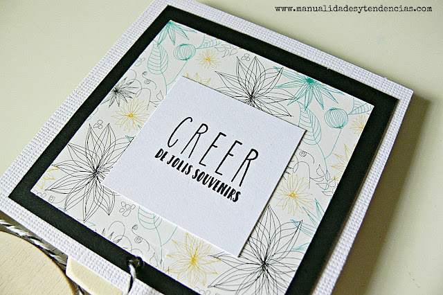 mini álbum de scrapbooking