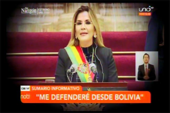 Presidenta Áñez no huirá como Evo Morales, asegura que es inocente y se defenderá desde Bolivia