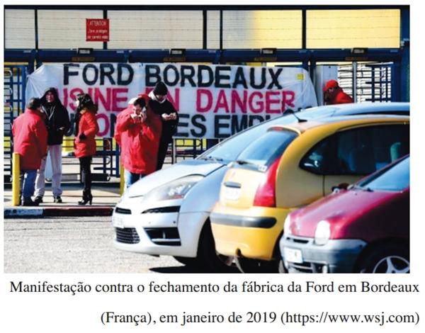 Manifestação contra o fechamento da fábrica da Ford em Bordeaux