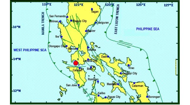 Magnitude 4.2 earthquake shakes Mabini, Batangas