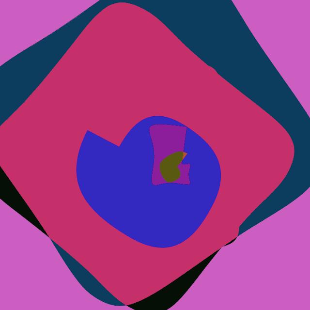 Vivid color image. Creative coding examples with De Jong Attractor.