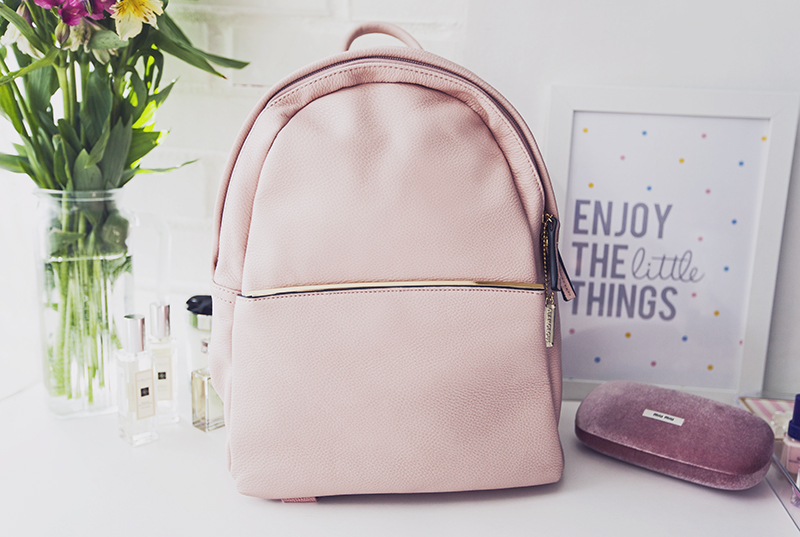 Glamorous Minimal Backpack in Blush