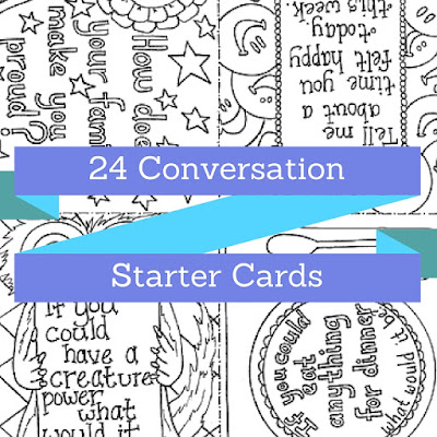 Conversation Starter Cards for Families and Teachers