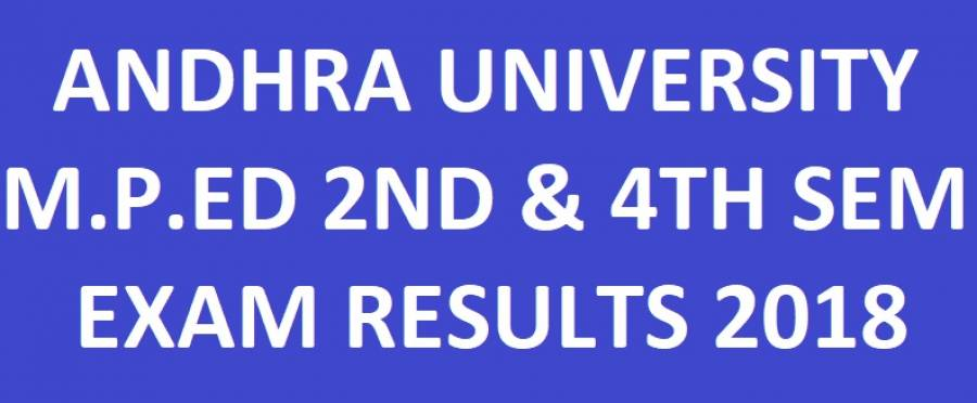 AU M.P.Ed 2nd & 4th Sem Regular Supply Results