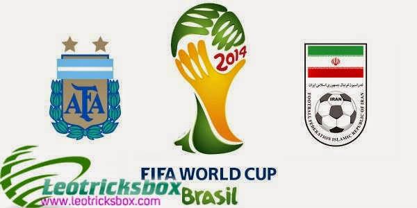 Brazil 2014 FIFA world Cup : Argentina Vs. Iran