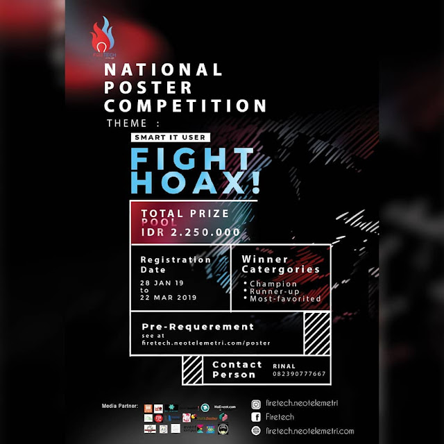 Lomba Poster Nasional Firetech 2019 Umum Se-Indonesia