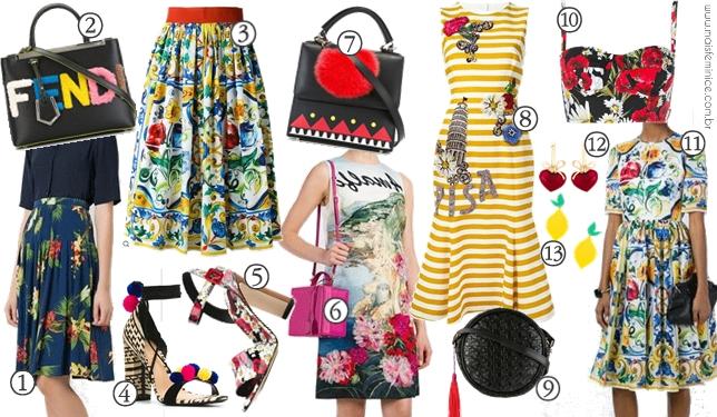 WishList de Primavera - ladylike, saia midi, florais e estampas