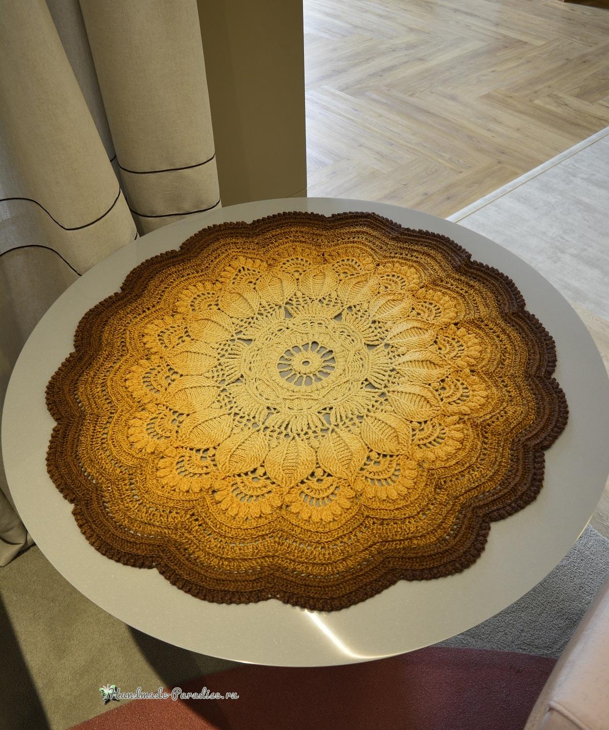Схема вязания большой круглой салфетки «Кофейные взбитые сливки» (3)