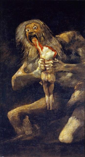 Franscisco de Goya – Saturn Devouring His Son [Saturno devorando a su hijo, 1821-23]