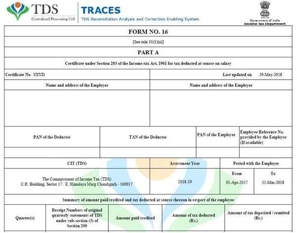 Arrears Relief with Form 16