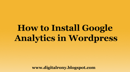 How to install google analytics on wordpress website
