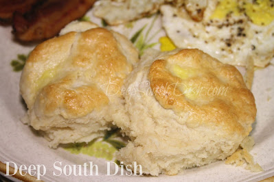 A tender, fluffy and light classic buttermilk biscuit, made with the addition of an egg.