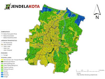 Peta Tutupan Lahan Kota Pekalongan