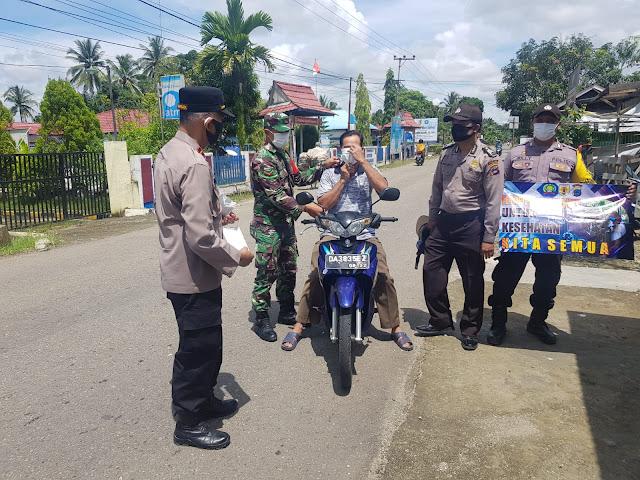 Polsek Jaya Karya Gelar Operasi Yustisi Supaya Masyarakat Taat Dan Patuh Terhadap Protokol Kesehatan