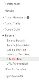 Blogger İçin Google Sitemap Oluşturmak