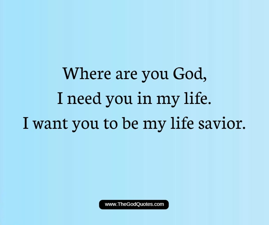 Where Are You God Quotes