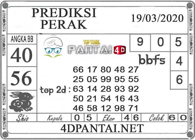 PREDIKSI TOGEL PERAK PANTAI4D 19 MARET 2020