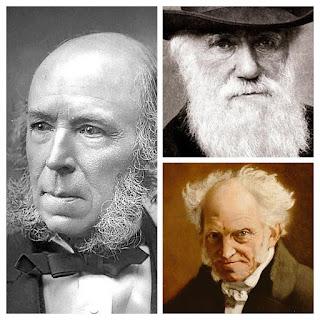 Herbert Spencer, Charles Darwin, Arnold Schopenhauer