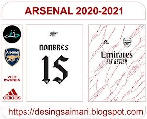 Vector Camiseta Arsenal Away 2020-21
