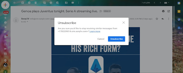 Unsubscribe and block spam messages