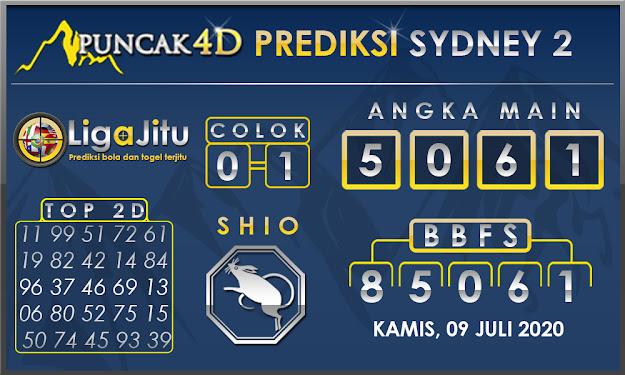 PREDIKSI TOGEL SYDNEY2 PUNCAK4D 09 JULI 2020