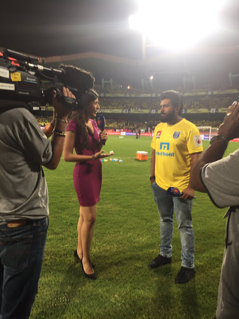 Nivin Pauly at kerala blasters isl tournament