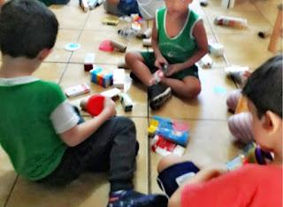 Os objetivos da Pré escola, seus percursos  e uso dos materiais não estruturados.