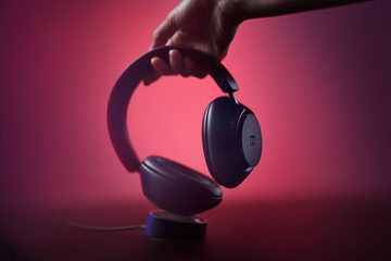 """Headphones from Dolby """"Dolby Dimension"""". Music and sound blending, Cinematic mode too"""