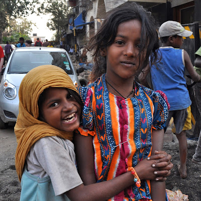 kids on street in india