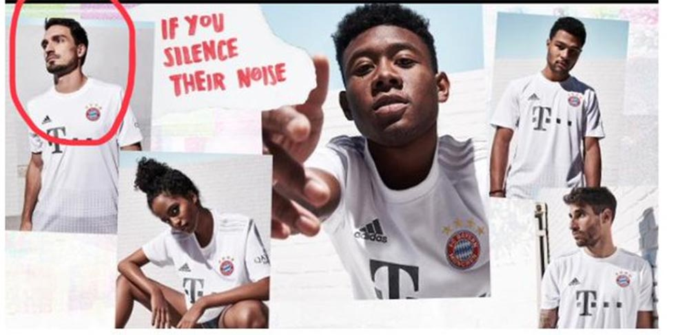 new products a02b4 df547 FAIL: Adidas Puts Hummels Amongst Players For Bayern 19 ...