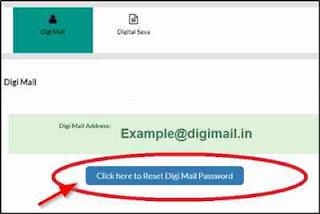 Digimail password reset without fingerprint