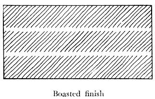 Dressing of stones boasted finish