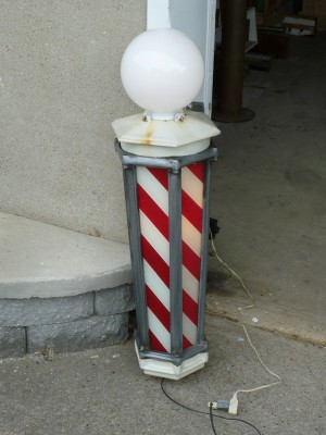 Old Barber Chairs >> Barber Girl Photos: Antique Barber Poles For Sale
