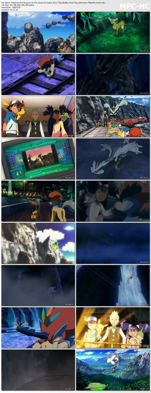 Pokemon The Movie Kyurem Vs The Sword Of Justice 2012 Dual
