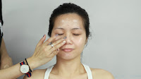 Inner Double Folded Eyelid Makeup - Apply make up base to all over the face for more radiant & smoother skin effect.