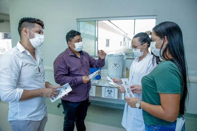No Dia Nacional da Prevenção de Acidentes do Trabalho, servidores do Hospital de Base participam de campanha educativa