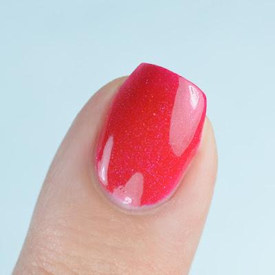 red holo nail polish