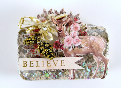 Stamperia Oriental Garden Prima Christmas in the Country Idea-Ology Pine Cones For The Funkie Junkie Boutique