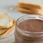nocilla or homemade Nutella cocoa and hazelnut cream