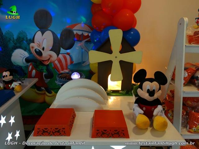 Decoração de mesa de aniversário tema do Mickey - Festa infantil