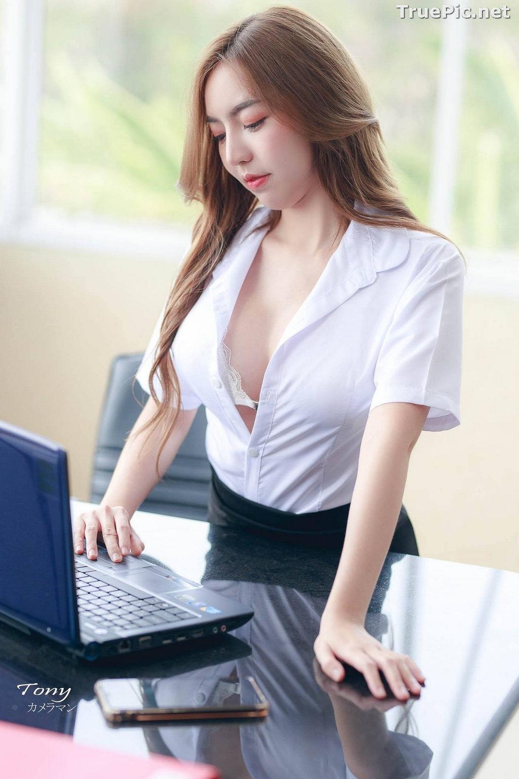 Image Thailand Model - Champ Phawida - Sexy Secretary and Office Uniform - TruePic.net - Picture-6