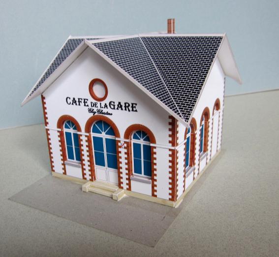cl s pour le train miniature cl s n 3 notice de montage du caf de la gare. Black Bedroom Furniture Sets. Home Design Ideas