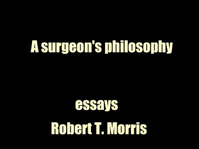 A surgeon's philosophy