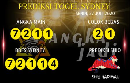 Prediksi Angka Jitu Sydney Senin 27 Juli 2020