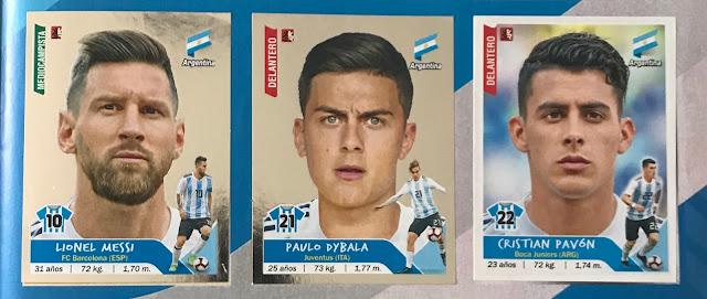 Figurine lucide Messi Dybala Copa America 2019