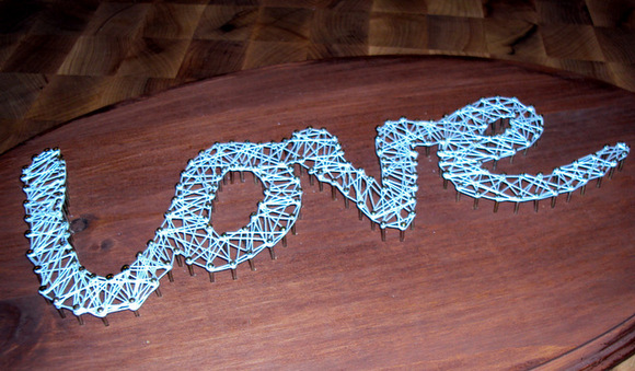 love string art finished