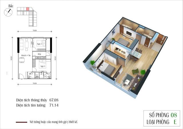 Thiết kế căn 08 tòa CT2 Eco Green City